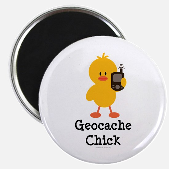 """Geocache Chick 2.25"""" Magnet (100 pack)"""