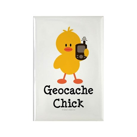 Geocache Chick Rectangle Magnet (100 pack)