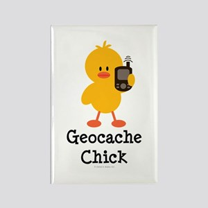 Geocache Chick Rectangle Magnet