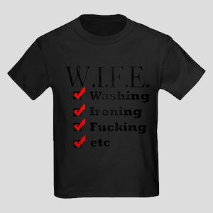 WIFE True Meaning Sexy Shirt Kids Dark T-Shirt