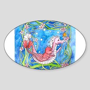 Sea Dragon's Quest Oval Sticker