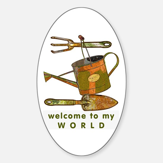 Garden Tools Oval Decal