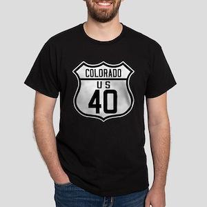 Route 40 Shield - Colorado Dark T-Shirt