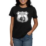Route 40 Shield - Missouri Women's Dark T-Shirt