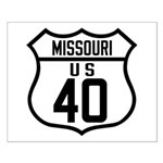 Route 40 Shield - Missouri Small Poster