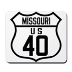 Route 40 Shield - Missouri Mousepad