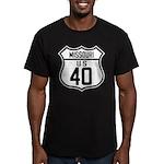 Route 40 Shield - Missouri Men's Fitted T-Shirt (d