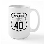 Route 40 Shield - Missouri Large Mug