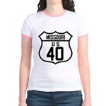Route 40 Shield - Missouri Jr. Ringer T-Shirt