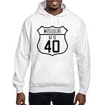 Route 40 Shield - Missouri Hooded Sweatshirt