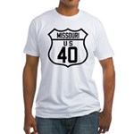 Route 40 Shield - Missouri Fitted T-Shirt