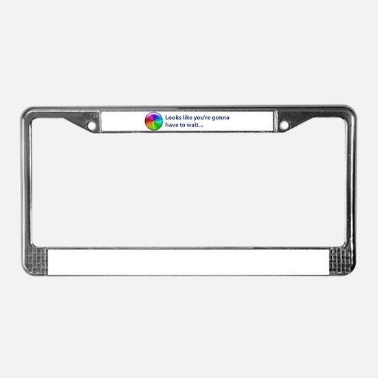 Funny Steve License Plate Frame