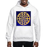 s002.sri yantra gold on blue Hooded Sweatshirt