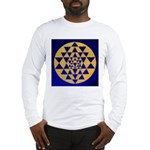 s002.sri yantra gold on blue Long Sleeve T-Shirt