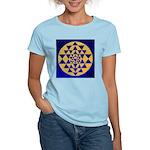 s002.sri yantra gold on blue Women's Light T-Shirt