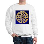 s002.sri yantra gold on blue Sweatshirt