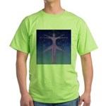 0132.proportions of man Green T-Shirt