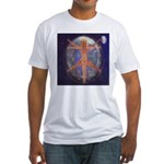 57.energy fields Fitted T-Shirt