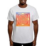 374.rainbow mandala Ash Grey T-Shirt