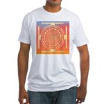 374.rainbow mandala Fitted T-Shirt