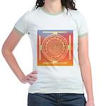 374.rainbow mandala Jr. Ringer T-Shirt