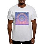 370a.heart fire mandala Ash Grey T-Shirt