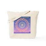 370a.heart fire mandala Tote Bag
