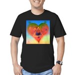 139. LOVE TRIANGLE ? Men's Fitted T-Shirt (dark)