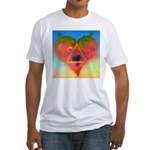 139. LOVE TRIANGLE ? Fitted T-Shirt