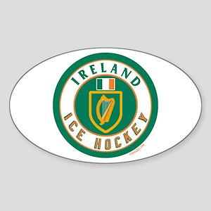 IE Ireland(Eire/Erin) Hockey Oval Sticker