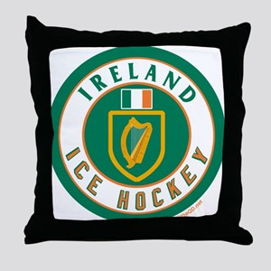 IE Ireland(Eire/Erin) Hockey Throw Pillow