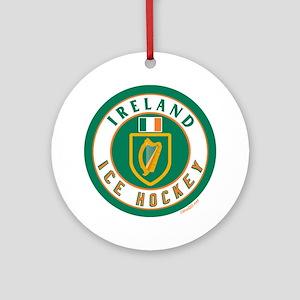 IE Ireland(Eire/Erin) Hockey Ornament (Round)