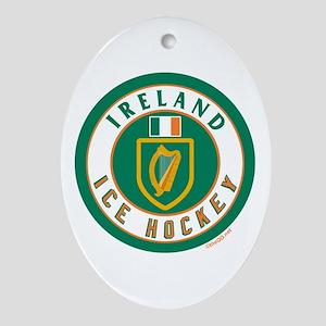 IE Ireland(Eire/Erin) Hockey Oval Ornament
