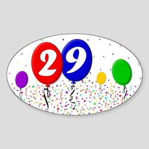 29th Birthday Oval Sticker