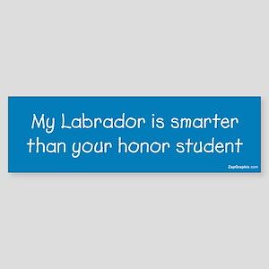 Labrador/Honor Student Bumper Sticker