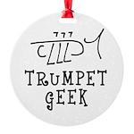 Trumpet Hand Drawn Round Ornament