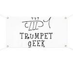 Trumpet Hand Drawn Banner