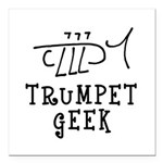 Trumpet Hand Drawn Square Car Magnet 3