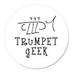 Trumpet Hand Drawn Round Car Magnet