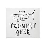 Trumpet Hand Drawn Throw Blanket