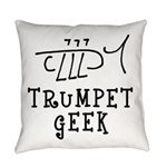 Trumpet Hand Drawn Everyday Pillow