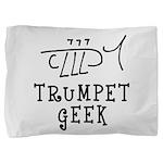 Trumpet Hand Drawn Pillow Sham