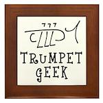 Trumpet Hand Drawn Framed Tile