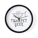 Trumpet Hand Drawn Wall Clock