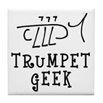 Trumpet Hand Drawn Tile Coaster