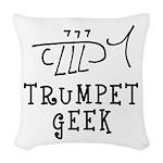 Trumpet Hand Drawn Woven Throw Pillow