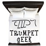 Trumpet Hand Drawn King Duvet