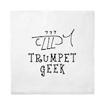 Trumpet Hand Drawn Queen Duvet