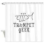 Trumpet Hand Drawn Shower Curtain