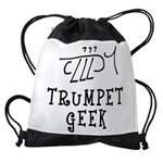 Trumpet Hand Drawn Drawstring Bag